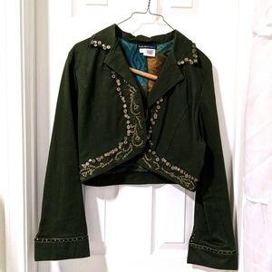 Havenbleu Dark Green Cropped Blazer